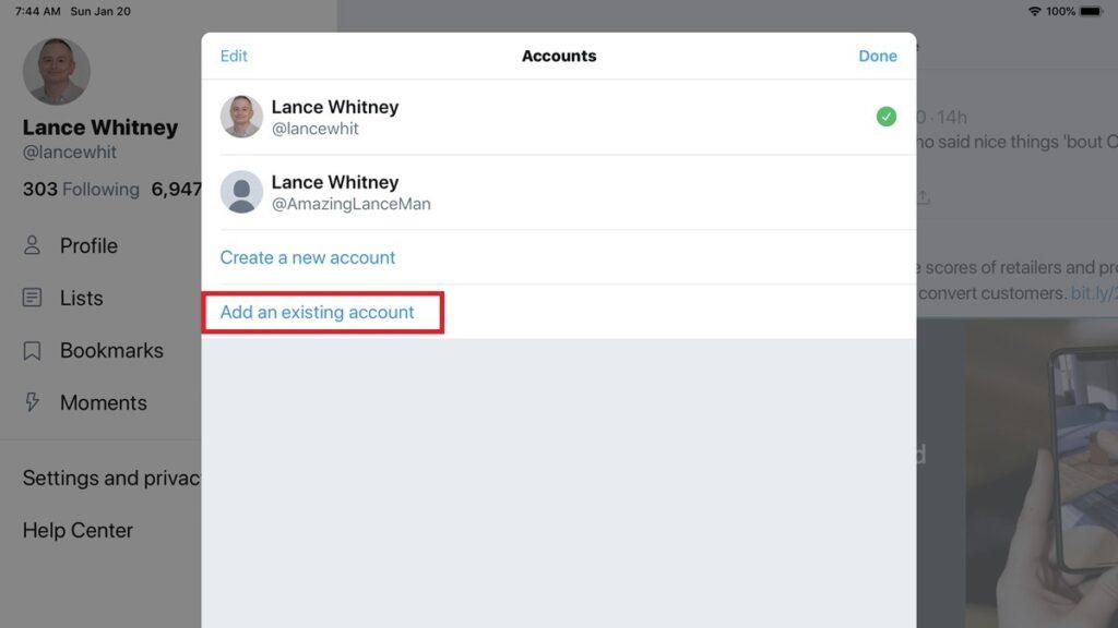 Merge Twitter accounts - Vip-tweet