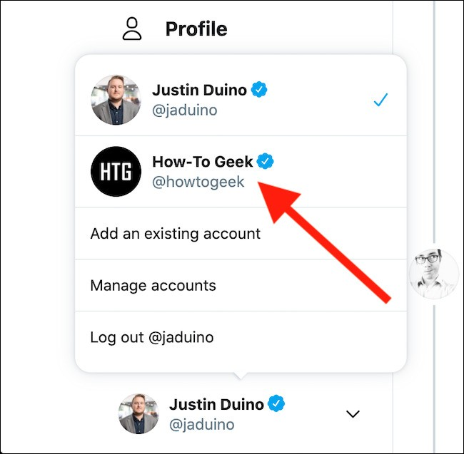 How to switch accounts on Twitter - Vip-tweet